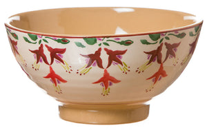 Vegetable bowl Fuchsia spongeware pottery by Nicholas Mosse Pottery - Ireland - Handmade Irish Craft