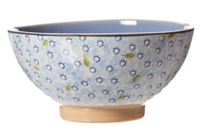 Vegetable  bowl Lawn Light Blue spongeware pottery by Nicholas Mosse Pottery - Ireland - Handmade Irish Craft#