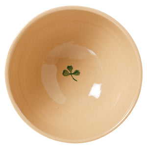 Vegetable bowl (inside) Clover spongeware pottery by Nicholas Mosse - Ireland - Handmade Irish Craft
