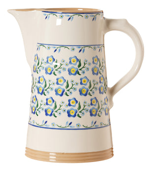 XL jug Forget Me Not spongeware pottery by Nicholas Mosse - Ireland - Handmade Irish Craft
