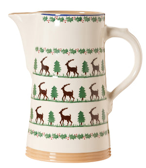 XL jug Reindeer spongeware pottery by Nicholas Mosse - Ireland - Handmade Irish Craft
