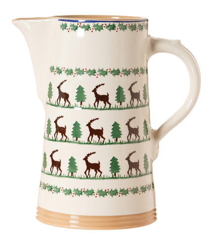XL jug Reindeer spongeware pottery by Nicholas Mosse - Ireland - Handmade Irish Craft  sc 1 st  Nicholas Mosse Pottery : irish tableware - pezcame.com