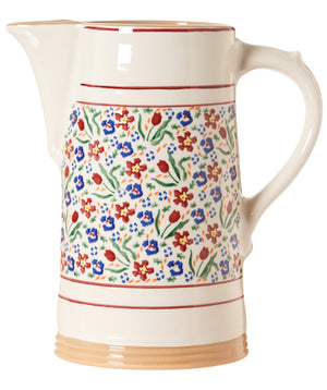 XL Jug Wild Flower Meadow spongeware pottery by Nicholas Mosse, Ireland - Handmade Irish Craft - nicholasmosse.com