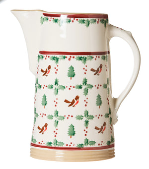 XL Jug Winter Robin spongeware pottery by Nicholas Mosse, Ireland - Handmade Irish Craft - nicholasmosse.com