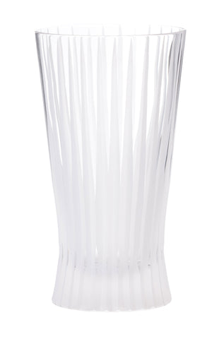 Nicholas Mosse Clear Glass With Cut Grass Design