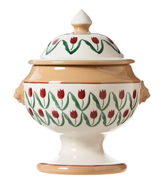 SOUP TUREEN RED TULIP