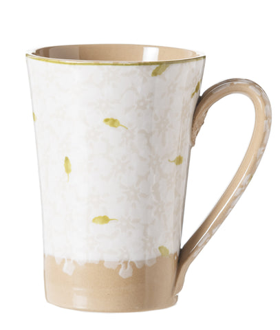 Nicholas Mosse Tall Mug Lawn White spongeware pottery by Nicholas Mosse Pottery - Ireland - Handmade Irish Craft
