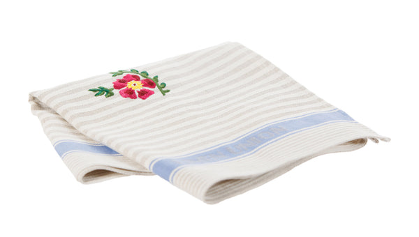 Nicholas Mosse Tea Towel Old Rose Blue Stripe