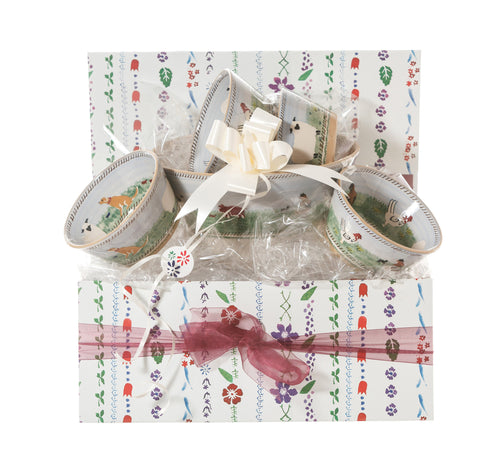 Angled Bowl Gift Set Assorted Landscape