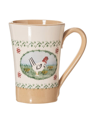Nicholas Mosse Tall Mug Hen spongeware pottery by Nicholas Mosse Pottery - Ireland - Handmade Irish Craft