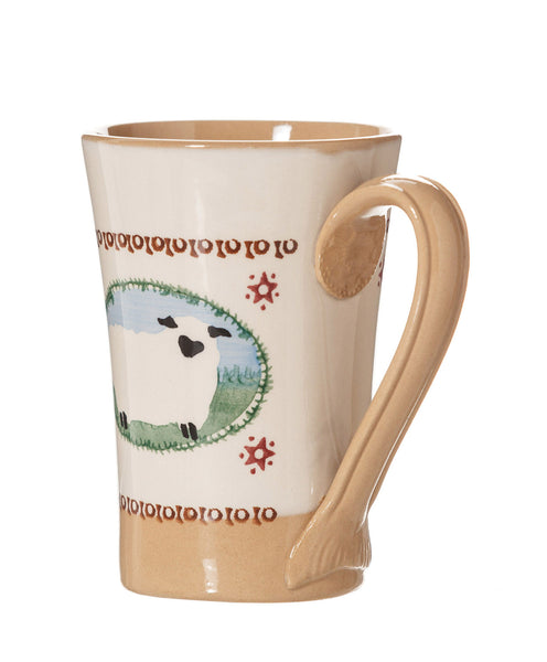 Nicholas Mosse Tall Mug Sheep spongeware pottery by Nicholas Mosse Pottery - Ireland - Handmade Irish Craft