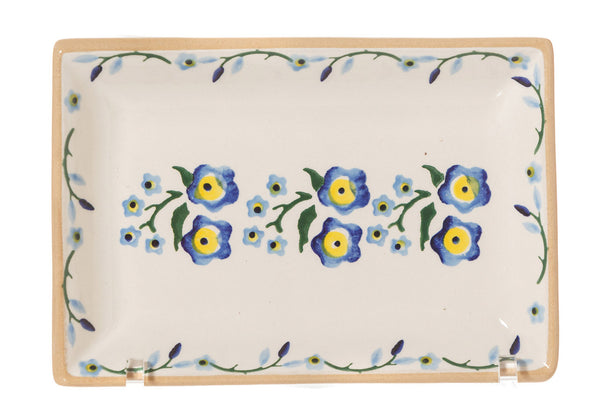 Nicholas Mosse Nest Of 3 Rectangle Dishes Forget Me Not