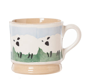 Small Mug Counting Sheep spongeware pottery by Nicholas Mosse