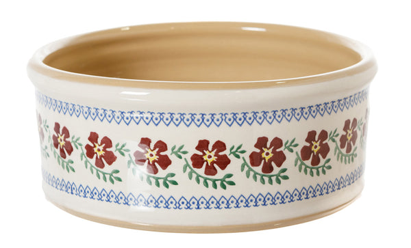 Large Dog Bowl Old Rose