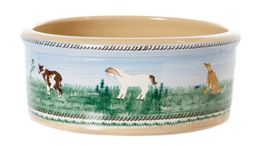 Large Dog Bowl Landscape spongeware pottery by Nicholas Mosse, Ireland - Handmade Irish Craft - nicholasmosse.com