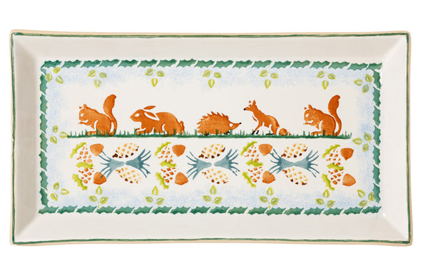 Large Rectangular Plate Assorted Woodland