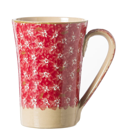 Nicholas Mosse Tall Mug Lawn Red spongeware pottery by Nicholas Mosse Pottery - Ireland - Handmade Irish Craft