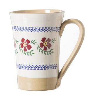 Nicholas Mosse Tall Mug Old Rose spongeware pottery by Nicholas Mosse Pottery - Ireland - Handmade Irish Craft