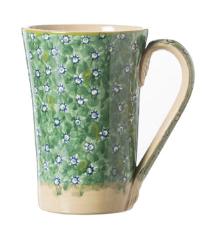 Nicholas Mosse Tall Mug Lawn Green spongeware pottery by Nicholas Mosse Pottery - Ireland - Handmade Irish Craft