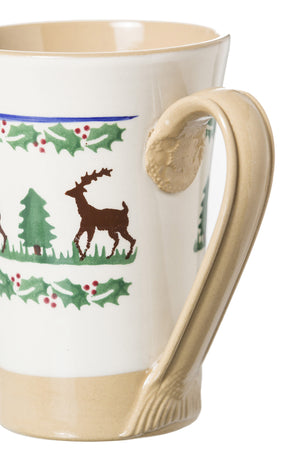 Nicholas Mosse Tall Mug Reindeer spongeware pottery by Nicholas Mosse Pottery - Ireland - Handmade Irish Craft