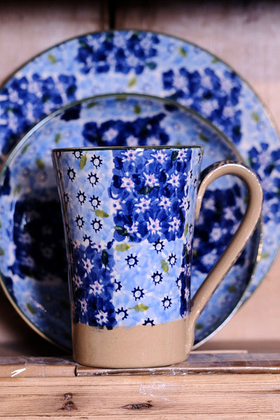 Nicholas Mosse Tall Mug Blue Chess spongeware pottery by Nicholas Mosse Pottery - Ireland - Handmade Irish Craft