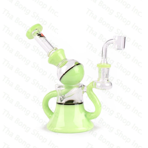 "Red Eye Glass 7"" Macrophonic Concentrate Recycler with 2 Hole Injection Perc & Quartz Banger - Tha Bong Shop"
