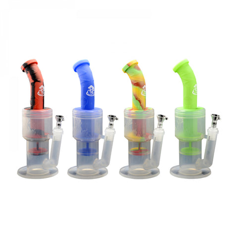 "LIT Silicone 12"" Clear Base Water Pipe"