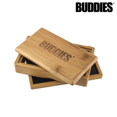 BUDDIES Bamboo Magnetic Sifter Box