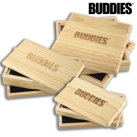 BUDDIES Pine Wood Magnetic Sifter Box - Tha Bong Shop