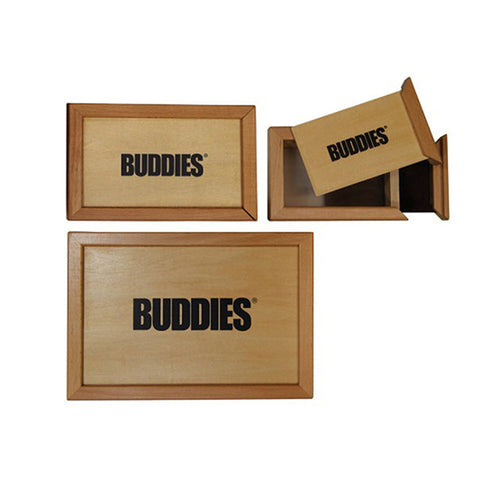Buddies Wood Sifter Box - Tha Bong Shop