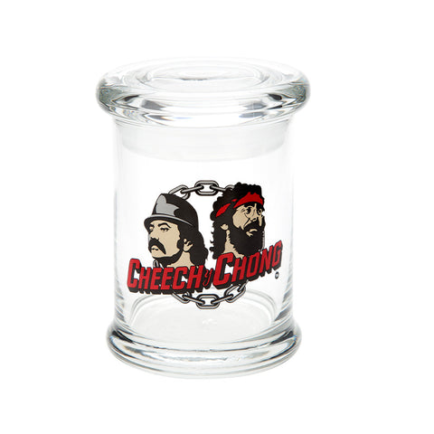 Cheech & Chong Glass Love Machine Pop Top Jar - Tha Bong Shop