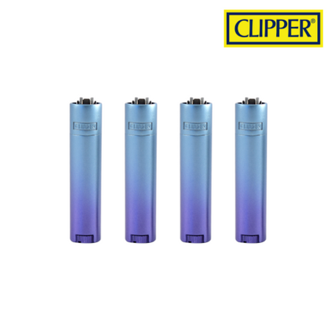 CLIPPER MICRO METAL GRADIENT BLUE DESIGN - Tha Bong Shop
