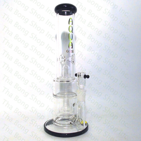 Aqua Glass Triple Reverse Showerhead Bong - Tha Bong Shop