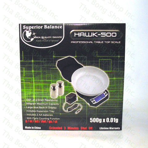Superior Balance Hawk 500 500g X 0.01g Scale - Tha Bong Shop