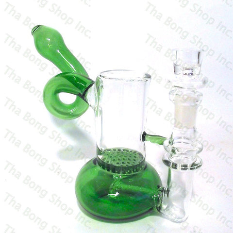 Inline Honeycomb Twist Neck Bubbler  - Tha Bong Shop