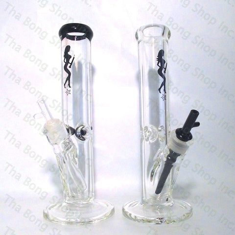 Volcano Glass 9mm Popper Bowl Straight Tube Bong - Tha Bong Shop