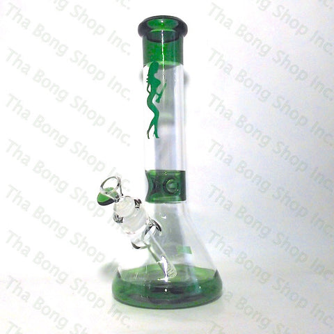 Volcano Glass Colour Accented  Beaker Bong - Tha Bong Shop