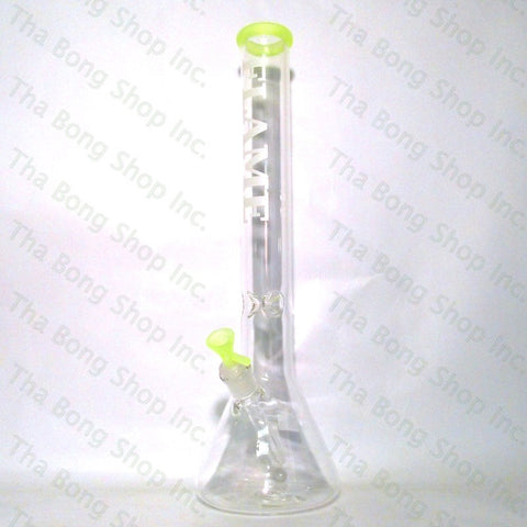 Flame Glass 18 inch Neon Colour Accented Beaker Bong - Tha Bong Shop