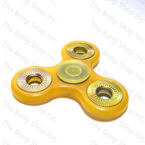 Glow In The Dark / UV Reactive Peach Fidget Spinner - Tha Bong Shop