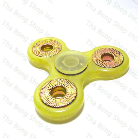 Glow In The Dark / UV Reactive Yellow Fidget Spinner - Tha Bong Shop