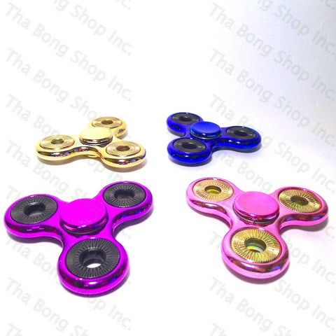 Metallic Finish Fidget Spinners - Tha Bong Shop