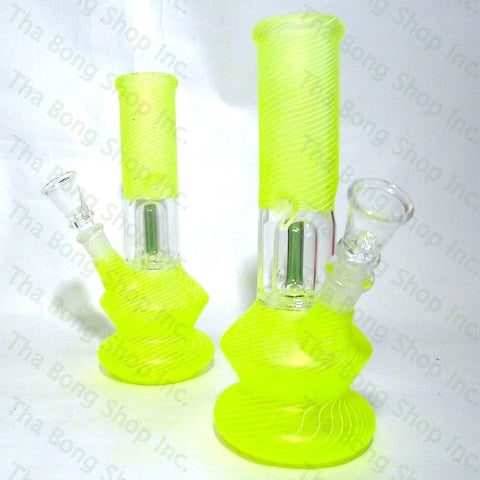 SALE ITEM Neon Green Coloured Single Dome Perc Mini Beaker Bong - Tha Bong Shop