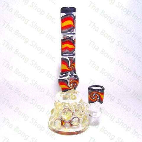 Gnosy Glass Orange Linework Silver Fume Can Bangerhanger  #Gfitting Mini Milker - Tha Bong Shop