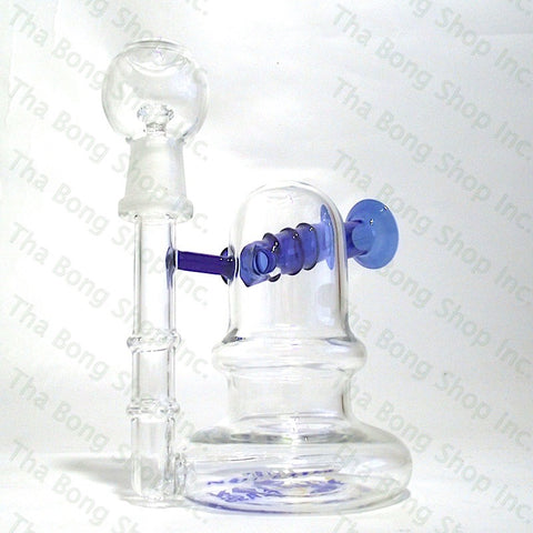 SALE ITEM Million Glass Inline Sidecar Oil Bubbler - Tha Bong Shop