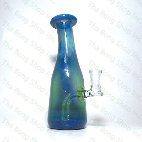 Thatcher Glass Teal & Silver Fume 10mm Bangerhanger Mini Tube - Tha Bong Shop