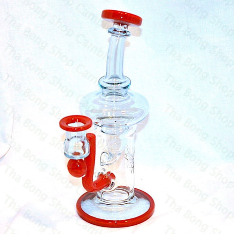Phatt Ass Glass Raindrop and Red Crayon Innerklien Recycler - Tha Bong Shop