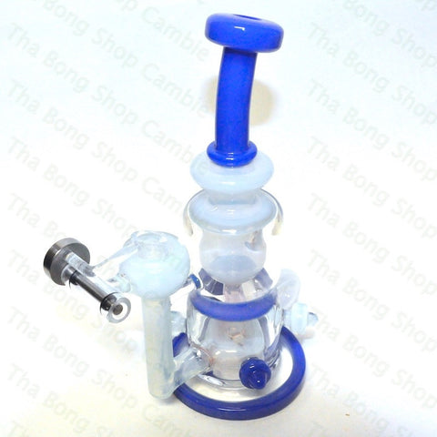 Full Zirkl Glass Blue Cheese and Robins Egg Torus Rig - Tha Bong Shop