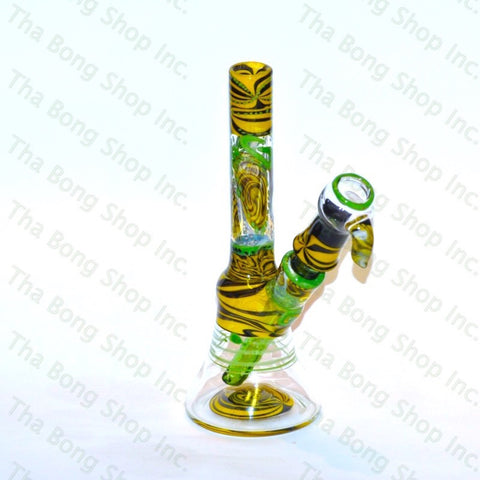 Gnosy Mini Milker Black And Yellow Wig Wag - Tha Bong Shop