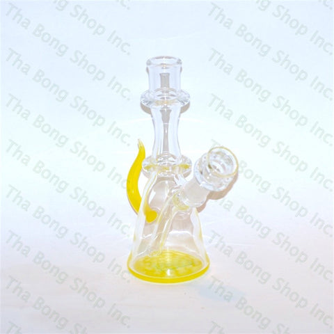 Thatcher Glass Lemon Drop Honeycomb Mini Rig - Tha Bong Shop