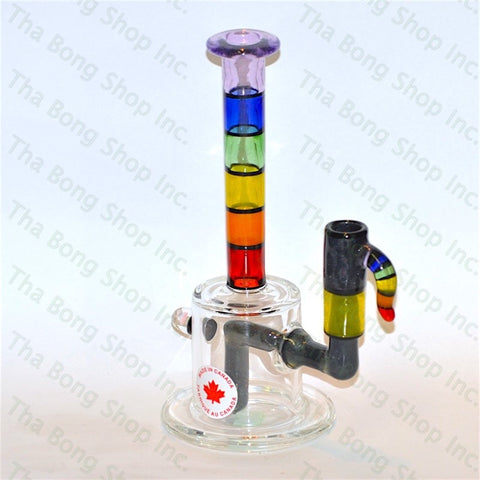 Thatcher Glass Rainbow Minitube Purple Lip - Tha Bong Shop